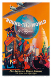 Pan American: Round the World by Clipper, c.1949 Art Print