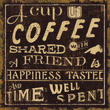 Coffee Quote I Art Print