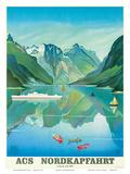 HAPAG Cruise Line: Nordkapfahrt - North Cape and Norwegian Fjords, c.1957