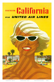 Fly United Air Lines: Southern California, c.1955 Art Print