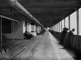 RMS Olympic. 'A' Deck. Transatlantic Passengers Enjoying the Bracing Air.
