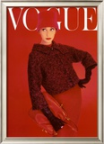 Vogue Cover, Red Rose, August 1956,