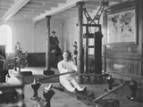 Gymnasium of White Star Liner, RMS Titanic.