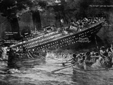 Titanic Sinking. Artist's Impression (Illustration) of the White Star Liner.