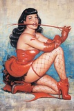 Bettie Page Red Poster