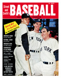 New York Yankees Mickey Mantle, Don Larson &amp; Yogi Berra - 1957 Street and Smith