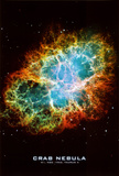 Crab Nebula Text Space Photo Science Poster