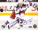 Scott Gomez Carrying Puck up Ice Autographed Photo (Hand Signed Collectable)