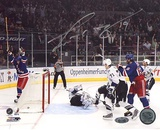 Scott Gomez Celebrating Goal vs Lightning Autographed Photo (Hand Signed Collectable)