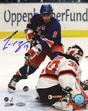 Scott Gomez Shot vs Devils Autographed Photo (Hand Signed Collectable)
