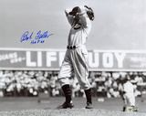 Bob Feller with Hall Of Fame 62 Inscription Autographed Photo (Hand Signed Collectable)