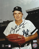 Gaylord Perry: New York Yankees Signed Picture with HOF 91 Inscription