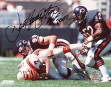 Dan Hampton Chicago Bears Autographed Photo (Hand Signed Collectable)