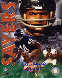 Gale Sayers Chicago Bears - Collage with 1965 ROY Inscription