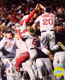 Kevin Youkilis Boston Red Sox World Series Celebration Autographed Photo (Hand Signed Collectable)