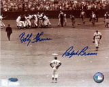 Ralph Branca / Bobby Thomson with Jackie Robinson Autographed Photo (Hand Signed Collectable)