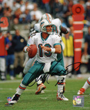 Dan Marino Miami Dolphins - Dropping Back Autographed Photo (Hand Signed Collectable)