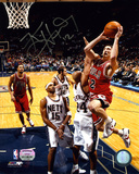 Kirk Hinrich Chicago Bulls vs Nets Autographed Photo (Hand Signed Collectable)