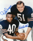 Dick Butkus and Gale Sayers Chicago Bears Autographed Photo (Hand Signed Collectable)