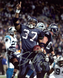 Shaun Alexander Seattle Seahawks vs. Panthers Autographed Photo (Hand Signed Collectable)
