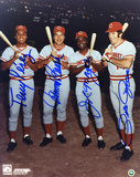Pete Rose, Johnny Bench, Joe Morgan and Tony Perez RedsAutographed Photo (Hand Signed Collectable)