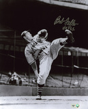 Bob Feller Cleveland Indians with HOF 62 Inscription