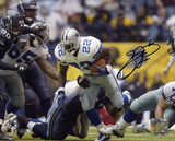 Emmitt Smith Dallas Cowboys -Record Breaker Run Autographed Photo (Hand Signed Collectable)