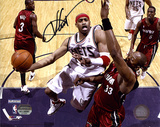 Vince Carter New Jersey Nets - Layup vs. Heat Autographed Photo (Hand Signed Collectable)