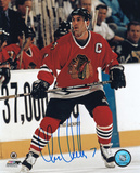 Chris Chelios Chicago Blackhawks Autographed Photo (Hand Signed Collectable)