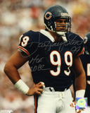 Dan Hampton Chicago Bears with HOF 2002 Inscription Autographed Photo (Hand Signed Collectable)
