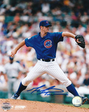 Mark Prior Chicago Cubs Blue Jersey Autographed Photo (Hand Signed Collectable)