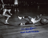 Marques Haynes with HOF 98 and World Greatest Dribbler Inscriptions