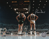 Jerry West Los Angeles Lakers vs. Boston Celtics Autographed Photo (Hand Signed Collectable)
