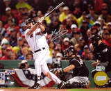 Kevin Youkilis Boston Red Sox - Hitting Autographed Photo (Hand Signed Collectable)