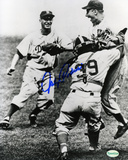 Johnny Podres Los Angeles Dodgers -Celebration