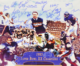 Chicago Bears 1985 Team with 30 Signatures Autographed Photo (Hand Signed Collectable)