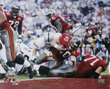 Mike Alstott Tampa Bay Buccaneers - Super Bowl XXXVI TD Autographed Photo (Hand Signed Collectable)