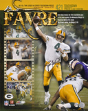 Brett Favre Green Bay Packers - 421st Touchdown Collage Autographed Photo (Hand Signed Collectable)
