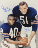 Dick Butkus and Gale Sayers Chicago Bears  with ''HOF 77 & 79'' Inscriptions