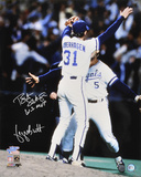 George Brett and Bret Saberhagen Kansas City Royals - World Series Action with WS MVP Inscription