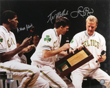 Larry Bird - Robert Parish and Kevin McHale Boston Celtics - Retirement Night