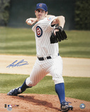 Mark Prior Chicago Cubs Pitching Autographed Photo (Hand Signed Collectable)