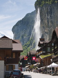 Staubbach Falls in Lauterbrunnen, Jungfrau Region, Switzerland, Europe