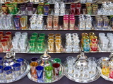 Glasses For Sale, Souk, Medina, Marrakech, Morocco, North Africa, Africa