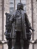 Statue of Bach, Leipzig, Saxony, Germany, Europe