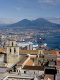Cityscape With Certosa Di San Martino and Mount Vesuvius , Naples, Campania, Italy, Europe