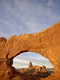 Turret Arch Through North Window at Dawn, Arches National Park, Utah, USA