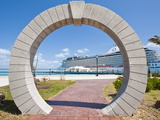 Moon Gate at Cruise Terminal in the Royal Naval Dockyard, Bermuda, Central America