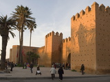 City Walls Surrounding the Medina, Rabat, Morocco, North Africa, Africa