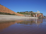 Jacob's Ladder, Clock Tower and Sidmouth Beach, Devon, England, United Kingdom, Europe